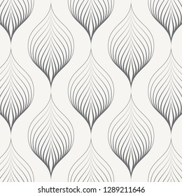 linear vector pattern, repeating linear abstract leaves on garland. pattern is on swatch panel