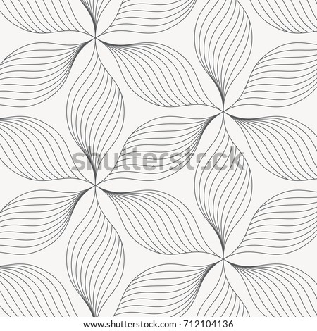 linear vector pattern repeating abstract leaves のベクター画像素材
