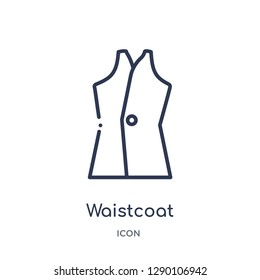 Linear waistcoat icon from Clothes outline collection. Thin line waistcoat vector isolated on white background. waistcoat trendy illustration