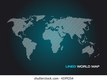 Lined World Map