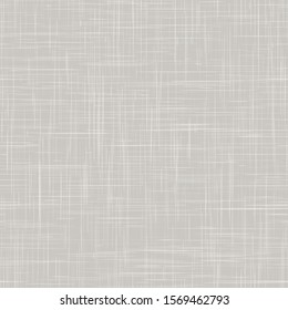 Linen Texture Background. Natural White Gray French Style. Neutral Unbleached Ecru Flax Fibre Seamless Pattern. Organic Yarn Close Up Weave Fabric for Wallpaper, Packaging. Vector EPS10 Repeat Tile
