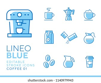 Lineo Blue - coffee line icons