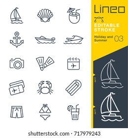 Lineo Editable Stroke - Holiday and Summer line icons Vector Icons - Adjust stroke weight - Expand to any size - Change to any colour