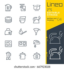Lineo Editable Stroke - Kitchen and Cooking line icons Vector Icons - Adjust stroke weight - Expand to any size - Change to any colour