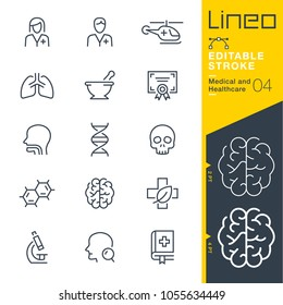 Lineo Editable Stroke - Medical and Healthcare line icons