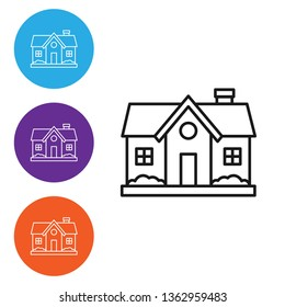Liner illustration in four styles House Vector Icon Vector. Home symbol
