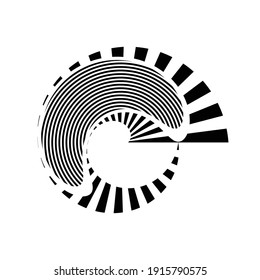 Lines in Circle Form . Spiral Vector Illustration .Technology round. Wave Logo . Design element . Abstract Geometric shape .