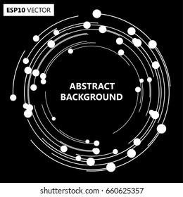 Lines in Circle Form . Spiral Vector Illustration .Technology round Logo . Design element