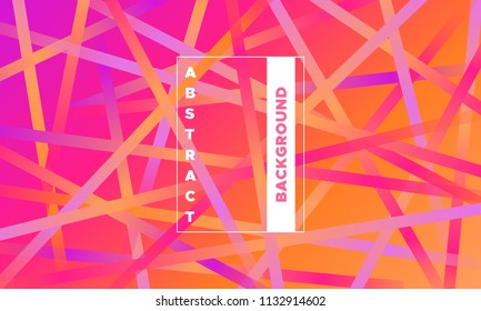 Lines with Colorful Gradient. Minimal Abstract Background with Glow Effect. Simple Geometric Grid. EPS10 Vector. Illustration with Stripes. Abstraction with Lines for Covers, Banner, Poster, Flyer.