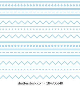 Lines and dots Seamless Pattern