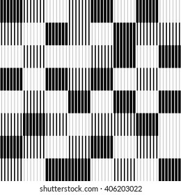 Lines seamless abstract pattern. Stylish repeating pattern. Vector background black and white
