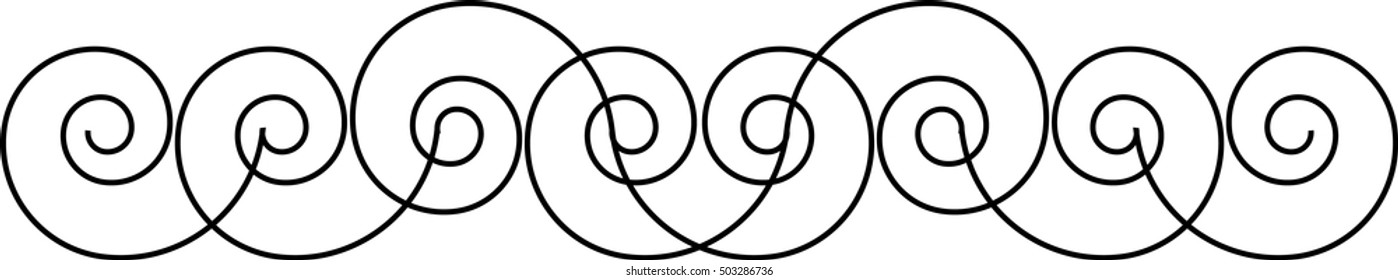 Lines in Spiral Form.
