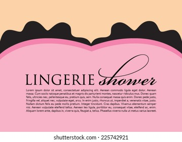 Lingerie Shower and Bachelorette Party Invitation Background