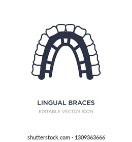 lingual braces icon on white background. Simple element illustration from Dentist concept. lingual braces icon symbol design.