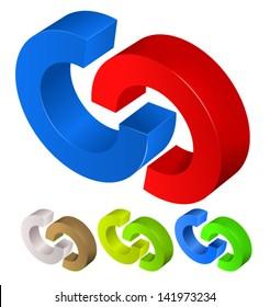 Link 3d Vector shape