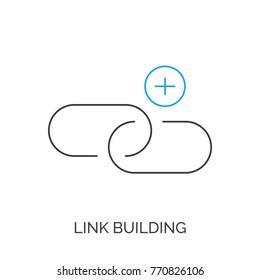 link building vector thin line icon