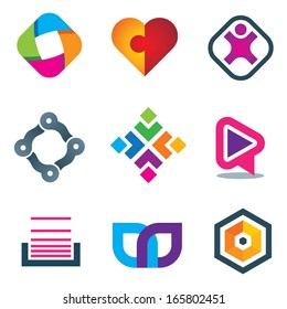 Link connection symbol logo icons of social media and network