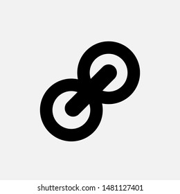 Link Icon. Chain, Network or Connection Illustration As A Simple Vector Sign & Trendy Symbol for Design,  Websites, Presentation or Mobile Application.