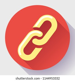 Link icon. Hyperlink chain symbol. link Vector flat illustration.