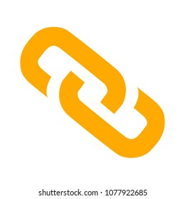 Link sign - vector chain symbol - connection icon, internet security object