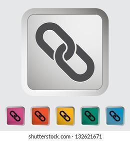 Link. Single icon. Vector illustration.