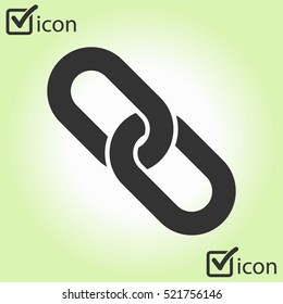 Link single icon.Chain link simbol.