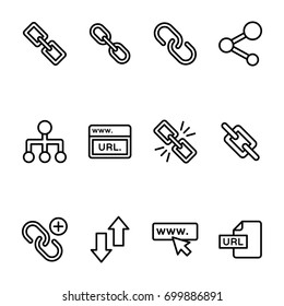 Linkage Line Vector Icons Set