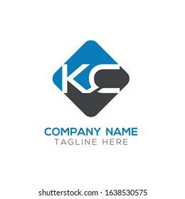 Linked Letter KC Logo Design vector Template. Creative Abstract KC Minimal, Flat Logo Design Vector Illustration