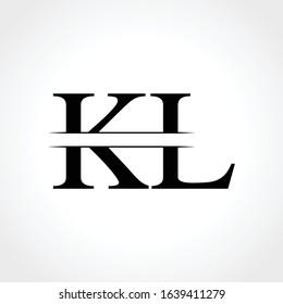 Linked Letter KL Logo Design vector Template. Creative Abstract KL monogram Logo Design Vector Illustration