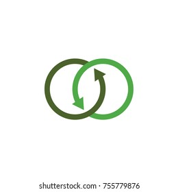 linked o letter with arrow logo