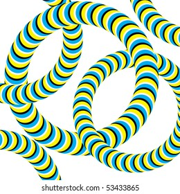 Linked Wrigglers (motion illusion)
