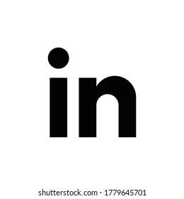 LinkedIn American business icon logo, vector illustration