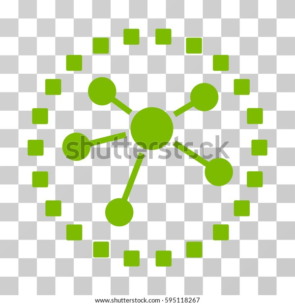 Links Diagram icon. Vector illustration style is flat iconic symbol, eco green color, transparent background. Designed for web and software interfaces.