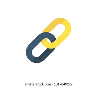 Links icon. Vector illustration in flat minimalist style.