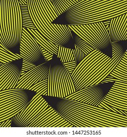 Linocut Outline Leaves Vintage Interior Textile Fabric Cloth Print Design, Geometric Ethnic Plumage Feather Bird Line Motif, Boho Chic Style Decorative Style Floral Artwork
