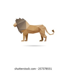 Lion abstract isolated on a white backgrounds, vector illustration