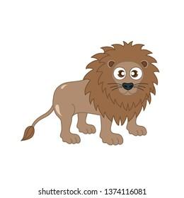 Lion animal cute vector