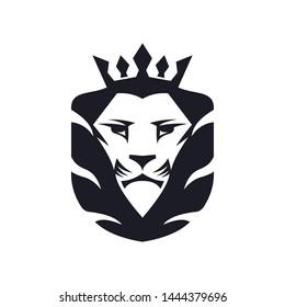 a lion animal logo template