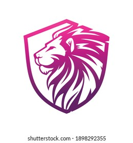 lion and bear illustration vector logo