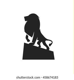 Lion of beasts, animal illustration logo mark a qualitative element modern style art