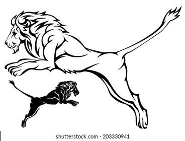 Lion black outline