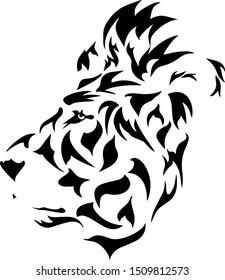 lion black and white tatoo