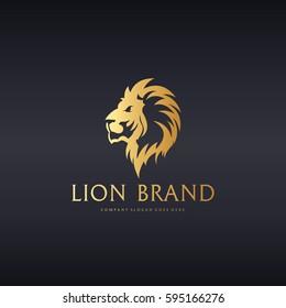 Lion Brand. Elegant Lion logotype