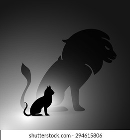 Lion and cat 4