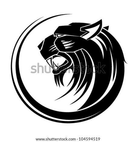 Lion Circle Tribal Tattoo Art Image Vectorielle De Stock Libre De