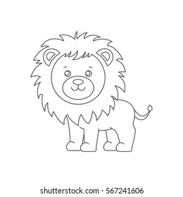 Cute Lion Outline Images Stock Photos Vectors Shutterstock 1139 x 1600 jpeg 166 кб. https www shutterstock com image vector lion coloring book on white background 567241606