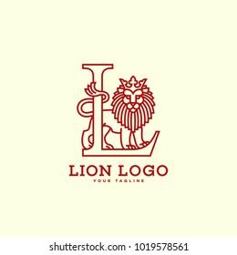 Lion Letter L Logo Template Design Stock Vector Royalty Free