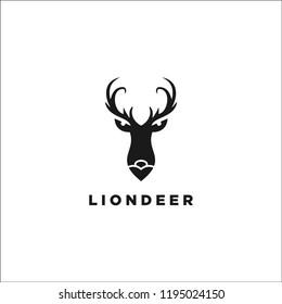 LION DEER LOGO DESIGN INSPIRATION