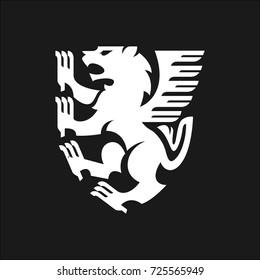 Lion emblem logo illustration