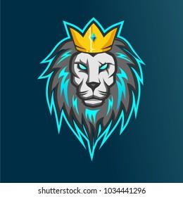 lion esports logo for your team game, squad game logo